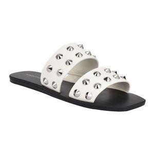 Marc Fisher White Bolive Sandal 8.5
